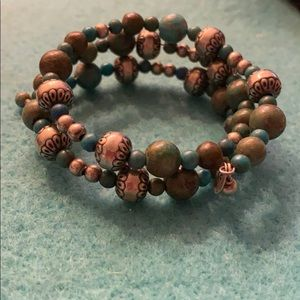 Sterling silver turquoise stone bracelet